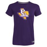 Ladies Russell Purple Essential T Shirt-PVAM Texas