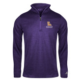 Russell Purple Heather 1/4 Zip-PVAM Stacked