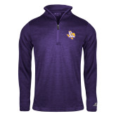 Russell Purple Heather 1/4 Zip-PVAM Texas