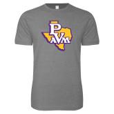 Next Level SoftStyle Heather Grey T Shirt-PVAM Texas