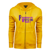 ENZA Ladies Gold Fleece Full Zip Hoodie-PV Marching Storm Band