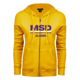 ENZA Ladies Gold Fleece Full Zip Hoodie-MSD Alumni