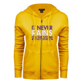 ENZA Ladies Gold Fleece Full Zip Hoodie-It Never Rains On The Storm