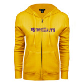 ENZA Ladies Gold Fleece Full Zip Hoodie-#StormMacys