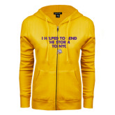 ENZA Ladies Gold Fleece Full Zip Hoodie-The Storm To NYC w/ Cloud