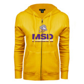 ENZA Ladies Gold Fleece Full Zip Hoodie-MSD w/ PVAM Logo