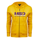 ENZA Ladies Gold Fleece Full Zip Hoodie-MSD