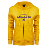 ENZA Ladies Gold Fleece Full Zip Hoodie-Softball Design