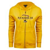 ENZA Ladies Gold Fleece Full Zip Hoodie-Softball Design