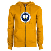 ENZA Ladies Gold Fleece Full Zip Hoodie-Marching Storm Cloud Circle - Fan