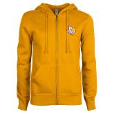 ENZA Ladies Gold Fleece Full Zip Hoodie-PVAM Texas