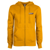ENZA Ladies Gold Fleece Full Zip Hoodie-PVAMU