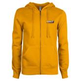 ENZA Ladies Gold Fleece Full Zip Hoodie-PVAMU