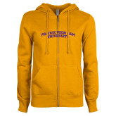 ENZA Ladies Gold Fleece Full Zip Hoodie-Arched Prairie View A&M