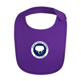 Purple Baby Bib-Marching Storm Cloud Circle - Future