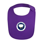 Purple Baby Bib-Marching Storm Cloud Circle - Fan
