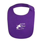 Purple Baby Bib-Future Black Fox