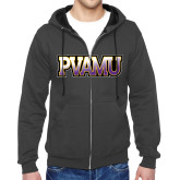 Charcoal Fleece Full Zip Hood-PVAMU
