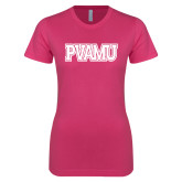 Ladies SoftStyle Junior Fitted Fuchsia Tee-PVAMU