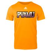 Adidas Gold Logo T Shirt-PVAMU