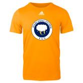 Adidas Gold Logo T Shirt-Marching Storm Cloud Circle - Fan