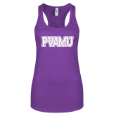 Next Level Ladies Purple Berry Jersey Racerback Tank-PVAMU