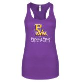 Next Level Ladies Purple Berry Ideal Racerback Tank-PVAM Stacked