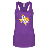 Next Level Ladies Purple Berry Ideal Racerback Tank-PVAM Texas