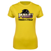 Ladies Syntrel Performance Gold Tee-Track & Field