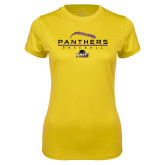 Ladies Syntrel Performance Gold Tee-Baseball Design