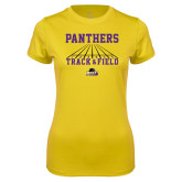 Ladies Syntrel Performance Gold Tee-Track & Field Design