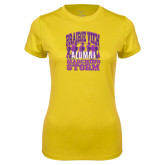 Ladies Syntrel Performance Gold Tee-Praire View marching Storm w/ Majors