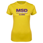 Ladies Syntrel Performance Gold Tee-MSD Alumni