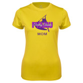 Ladies Syntrel Performance Gold Tee-Twirling Thunder Mom