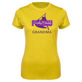 Ladies Syntrel Performance Gold Tee-Twirling Thunder Grandma