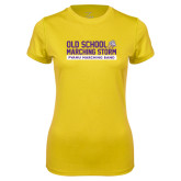 Ladies Syntrel Performance Gold Tee-Old School w/ Cloud