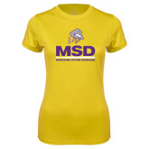 Ladies Syntrel Performance Gold Tee-MSD w/ PVAM Logo