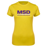 Ladies Syntrel Performance Gold Tee-MSD