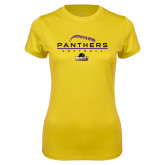 Ladies Syntrel Performance Gold Tee-Softball Design