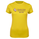 Ladies Syntrel Performance Gold Tee-Mom
