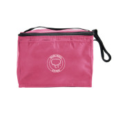 Six Pack Pink Cooler-Marching Storm Cloud Circle