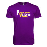 Next Level SoftStyle Purple T Shirt-PV Marching Storm Band