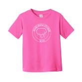 Toddler Fuchsia T Shirt-Marching Storm Cloud Circle - Kid