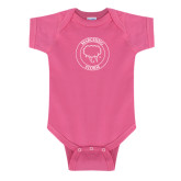 Fuchsia Infant Onesie-Marching Storm Cloud Circle