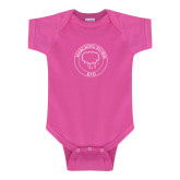 Fuchsia Infant Onesie-Marching Storm Cloud Circle - Kid