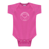 Fuchsia Infant Onesie-Marching Storm Cloud Circle - Fan