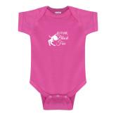 Fuchsia Infant Onesie-Future Black Fox