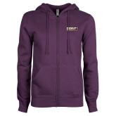 ENZA Ladies Purple Fleece Full Zip Hoodie-PVAMU