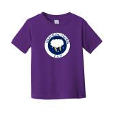 Toddler Purple T Shirt-Marching Storm Cloud Circle - Fan