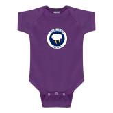 Purple Infant Onesie-Marching Storm Cloud Circle